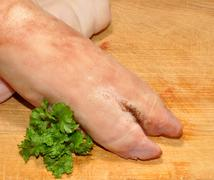 Raw Pig Trotters Stock Photos