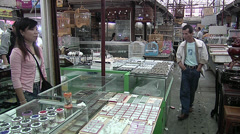 Street market in wan-shang. Shanghai Stock Footage