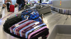 Baggage conveyor belt in the Suvarnabhumi Airport. Bangkok, Thailand. Stock Footage