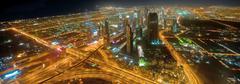 Panorama alas kaupunkiin Dubai City - UAE - stock photo
