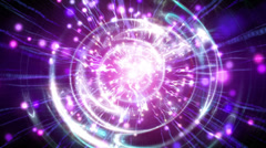 Stock Video Footage of Abstract motion background, shining light, rays, particles, and energy waves.