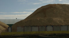 Wood Chip mountain Stock Footage