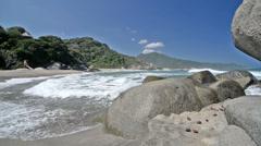 Caribbean Sea at Tayrona National Park Stock Footage