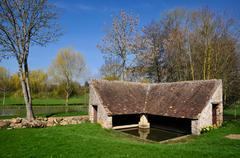 Wash house at Bourg-le-Roi in France Stock Photos