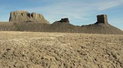 Badlands Wilderness Landscape Primal Savage and Surreal Stock Footage