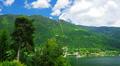 4K Mountain lake landscape, time-lapse. Footage