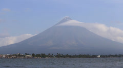Mayon Volcano in Legazpi, Philippines. Stock Footage