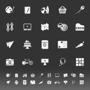 hobby icons on gray background - stock illustration