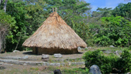 Stock Video Footage of Kogi Indian House in Tayrona National Park