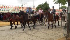 Carriage at the Seville's April Fair Stock Footage