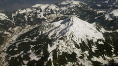 Aerial tracking shot of snow covered Alps 1/7 -0006 Stock Footage