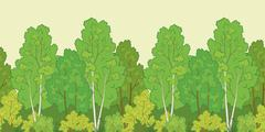 Seamless background, forest Stock Illustration