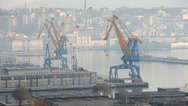 Stock Video Footage of Trieste port crane