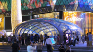 Stock Video Footage of Time Lapse Asia Singapore ION Orchard Shopping Mall Orchard, Road Christmas Deco
