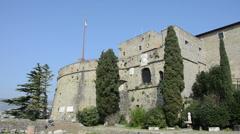 Castello di San Giusto, Trieste, Italy Stock Footage