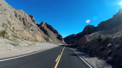 POV drive Interstate 15 Valley of Fire natural landmark Moapa Valley Nevada USA Stock Footage