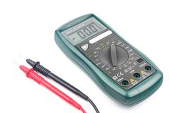Stock Photo of Digital multimeter isolated on white background