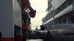 Marines putting ladder Stock Footage