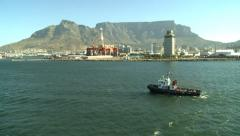 Pilot boat in Cape town Stock Footage