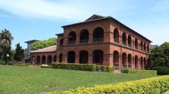 Santo Domingo castle (old British consulate) in Danshui Stock Footage