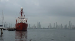 Hesperides, A33 in Cartagena of the Indies Harbor Stock Footage