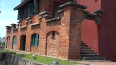 Santo Domingo castle (old British consulate) in Danshui Stock Footage