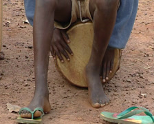African people playing music Stock Footage