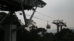 Shot of the maokong gondola reaching the top Stock Footage