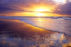 Stock Photo of beautiful sunset at the atlantic ocean in portugal