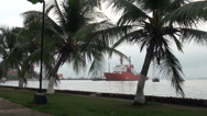 Stock Video Footage of Ship in Colombia port