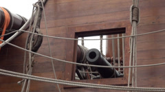 Canons of the Galleon Andalucia in Keelung. Stock Footage