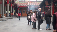 Indoor Taoist temple. Taipei Stock Footage