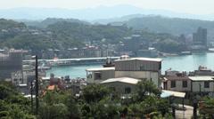 Taiwan, harbour landscape Stock Footage