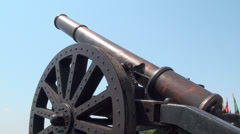 Cannons from San salvador ruins. Stock Footage