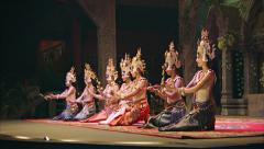 Siem reap, cambodia - 23 dec 2013: apsara cambodia khmer traditional dance an Stock Footage