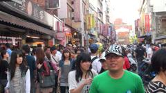 Shilin Night Market in Danshui Stock Footage