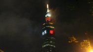 "Stock Video Footage of A 36 second clip of Taipei 101 in clouds saying ""Taipei rocks,  go"""