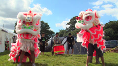 Chinese's dance dragon traditional Stock Footage