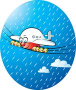 Stock Illustration of it's raining again