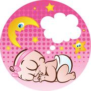 happy baby - stock illustration