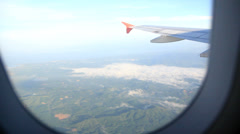 View from airplane windows Stock Footage