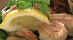 Aussie restaurant, crocodile meat with garrison Stock Footage