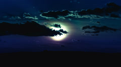 NO BIRDS! 4K & HD resolutions! Moon and clouds; MADE OF 14 bit RAW OUTPUT - stock footage