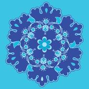 Blue oriental background Stock Illustration