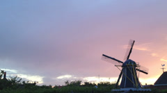 windmill in holland in 1080p, netherlands - stock footage