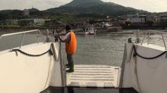 Danshui river harbour, New Taipei Stock Footage