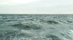Epic dramatic and atmospheric wild sea storm in 1080p Stock Footage