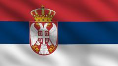 Serbian flag Stock Illustration