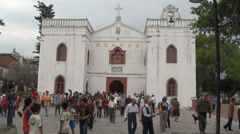 The Wanchin Basilica of the Immaculate Conception. Taiwan - stock footage