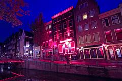 Stock Photo of red light district in amsterdam the netherlands
